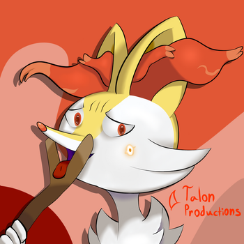 Braixen: Naughty type by TalonProductions