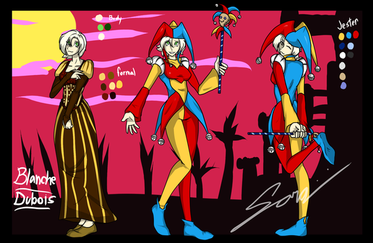 The Jester known as Blanche Dubois by DatFilthySora