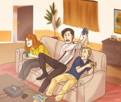 3 - Gaming by thatoddowl