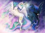 Celestia and Luna - Sister love by Cvanilda