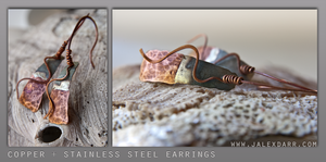 Copper and Steel Earring by j-alex-darr