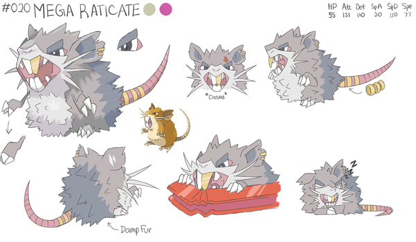Mega Raticate by EventHorizontal