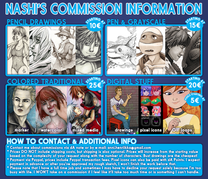 Nashi's Commission Information 2017 by Nashimus