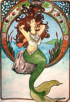 mermaid nouveau by life-is-my-art