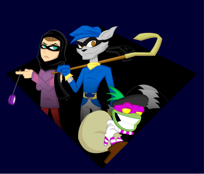 Commission:  3 Thieves by LegendaryFrog