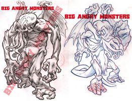Nosh-Akhuhg concept roughs 2 by pop-monkey