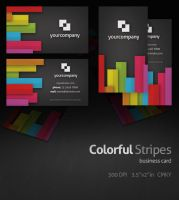 Colorful Stripes Business Card by Rafael-Olivra