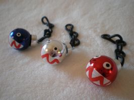 Chain Chomp Holiday Ornaments by Omonomopoeia