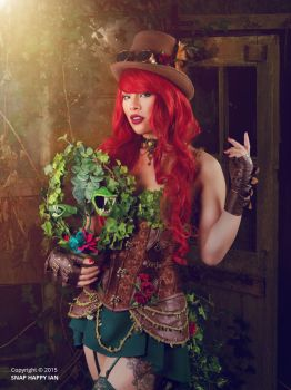 Steampunk Poison Ivy Cosplay by raquelsparrowcosplay