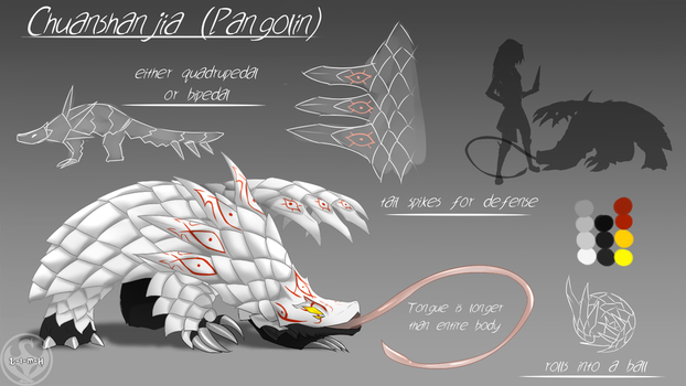 LUNAverse Fanon - Grimm Pangolin by Lightning-in-my-Hand