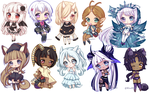 C: Teeny Tiny Chibi Batch 01 by KirasElixir