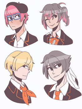 YS Club Leaders Sketch by Bleached-Potato