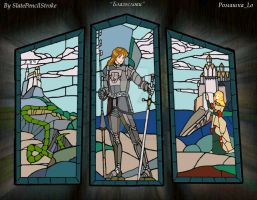 Stained-glass window: Bless me v.2 by SlatePencilStroke