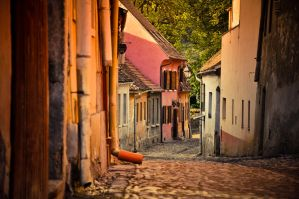 Street in Sighisoara by dianora
