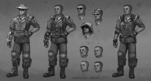 Characters - Military officer by Or1s
