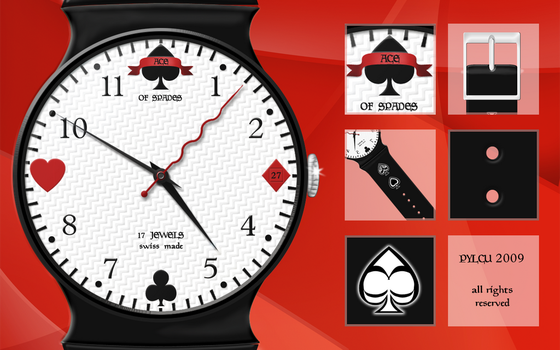 Ace of Spades Watch -Detailed by Pylcu