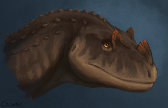Young Ceratosaurus by Coldevey