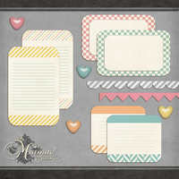 Candy Girl Journal Cards by DaydreamersDesigns