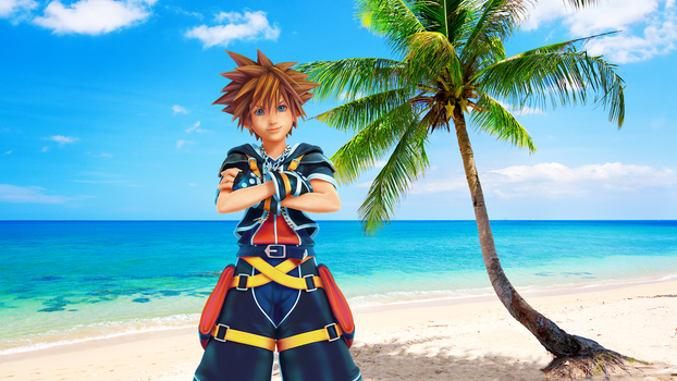 KH3 Sora Beach BG by DarkDryad17