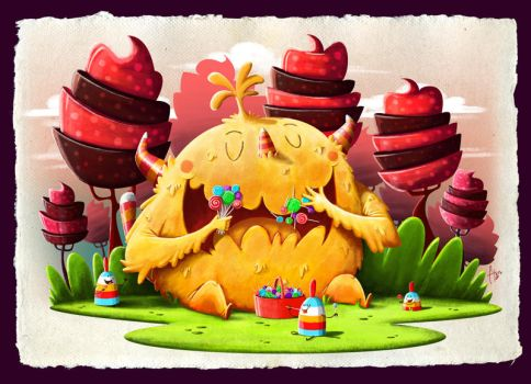 Monster in a Candy Land by Fitografito