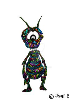 psychedelic ant by jompiete