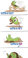 Chespin's evolution by Furreon