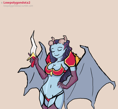 Queen of pain from dota 2 animation 18+ by AHTiXPiCT