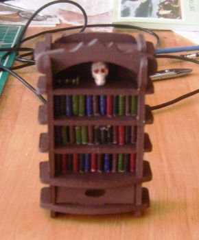 Haunted House Book Case by Isavarg