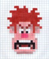 Wreck-It Ralph (Pixel Face) Drawing by Reallyfaster