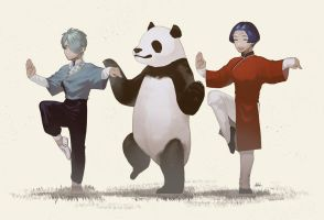 Giant panda is so giant. by Binjiro