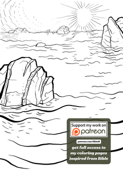 [002] Genesis 1:2 - coloring page - Bible by GhitaBArt