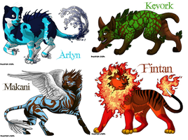 Elemental Cats by Whispered-Time