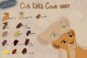 Cub Kiara color sheet by Takadk