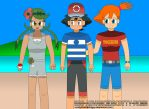 Mallow, Ash and Misty Got this Trip to Alola by scottytheshieldguy