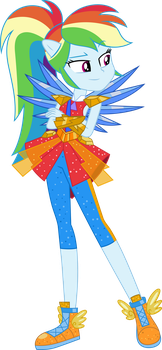 Rainbow Dash Legend of Everfree Vector by icantunloveyou