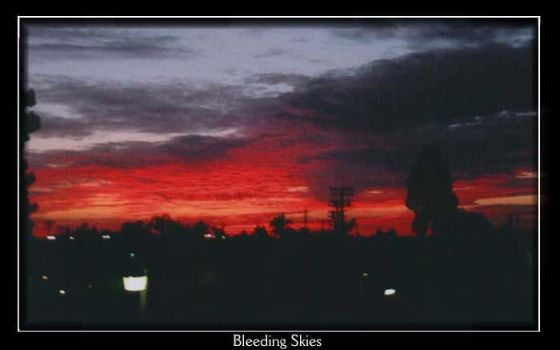 :: Bleeding Skies :: by sweetflower