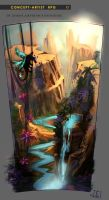 Concept Artist RPG Challenge 05. Canyon by Misava