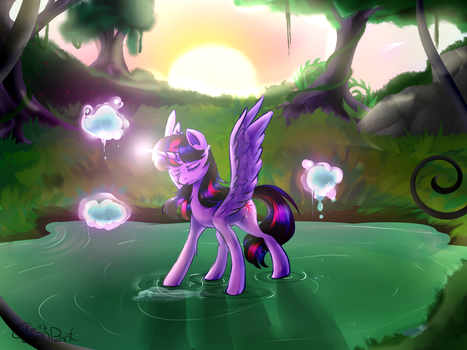 Twilights Training (with Speedpaint) by wolfchen999