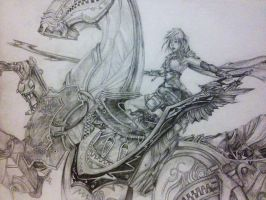 Lightning and Odin by supersonic-unicorn