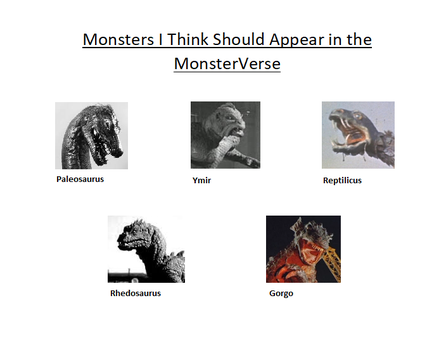 Monsters I Think Should Appear in the MonsterVerse by Gojilion91