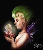 my first fairy illustration 'color' by Otto-Chrissi