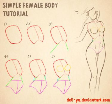 Simple Female Body Tutorial by deli-Yu