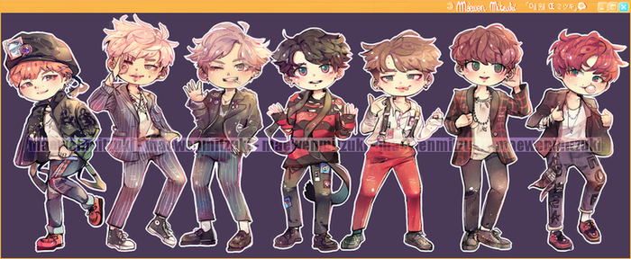 BTS_WAR OF HORMONE_CHIBIS. by MaewenMitzuki