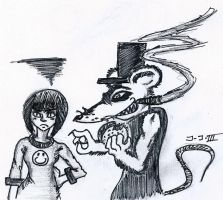 Sunny and Ralph the Rat by Jay-Jay3