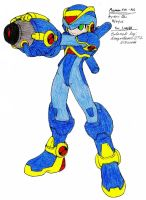 Megaman EXE. X Armor colored by dragontamer272
