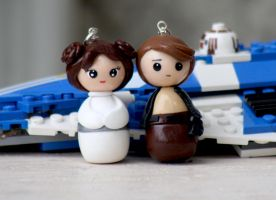 Princess Leia and Han Solo chibi by chikipita