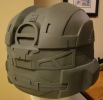 Halo 4 Lifesize Recruit helmet build back view by Hyperballistik