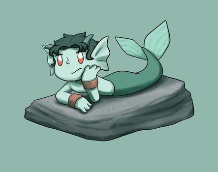 Bored Merman by ForeverMuffin