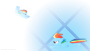 Filly Rainbow Dash Wallpaper \=/ Re-Make by Silentmatten