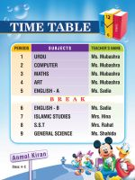 Time Table design by Shaket